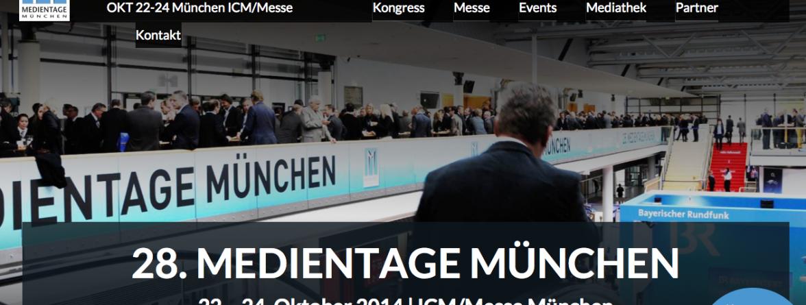 Medientage München mit Vine Podiumsdiskussion
