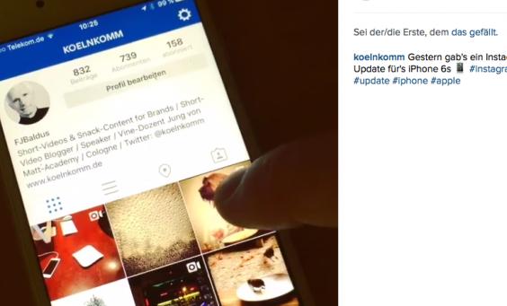 Instagram Update vom 2. Februar 2016