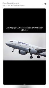 Quelle: Hamburg Airport Snapchat-Account