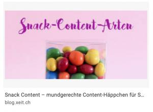 Snack-Content wird häufig mit Snacks visualisiert - zu Unrecht.