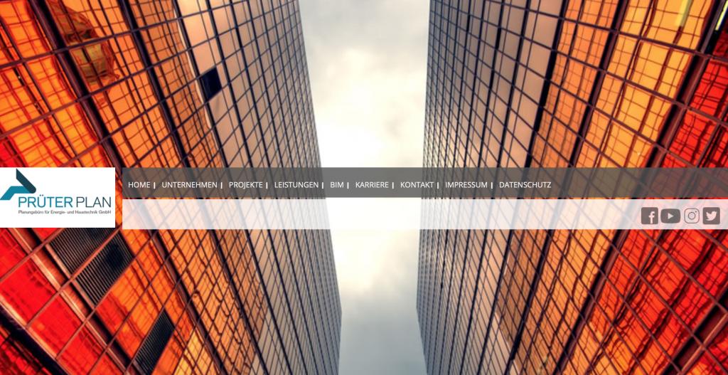 Website, Print-Produkte und Snack-Content für unseren Kunden Prüterplan