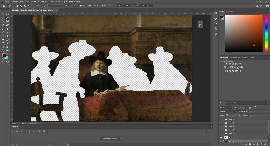 Photoshop-Bearbeitung: Ausschneiden von Bildbestandteilen