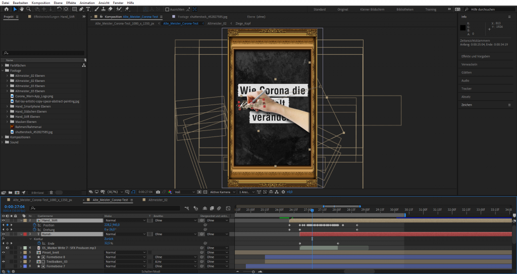 After Effects Bearbeitung: Outro animieren