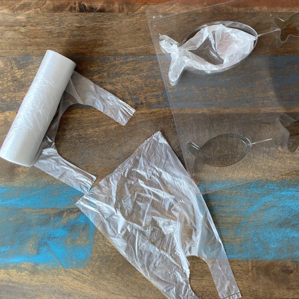 Plastiktüten und Fischform