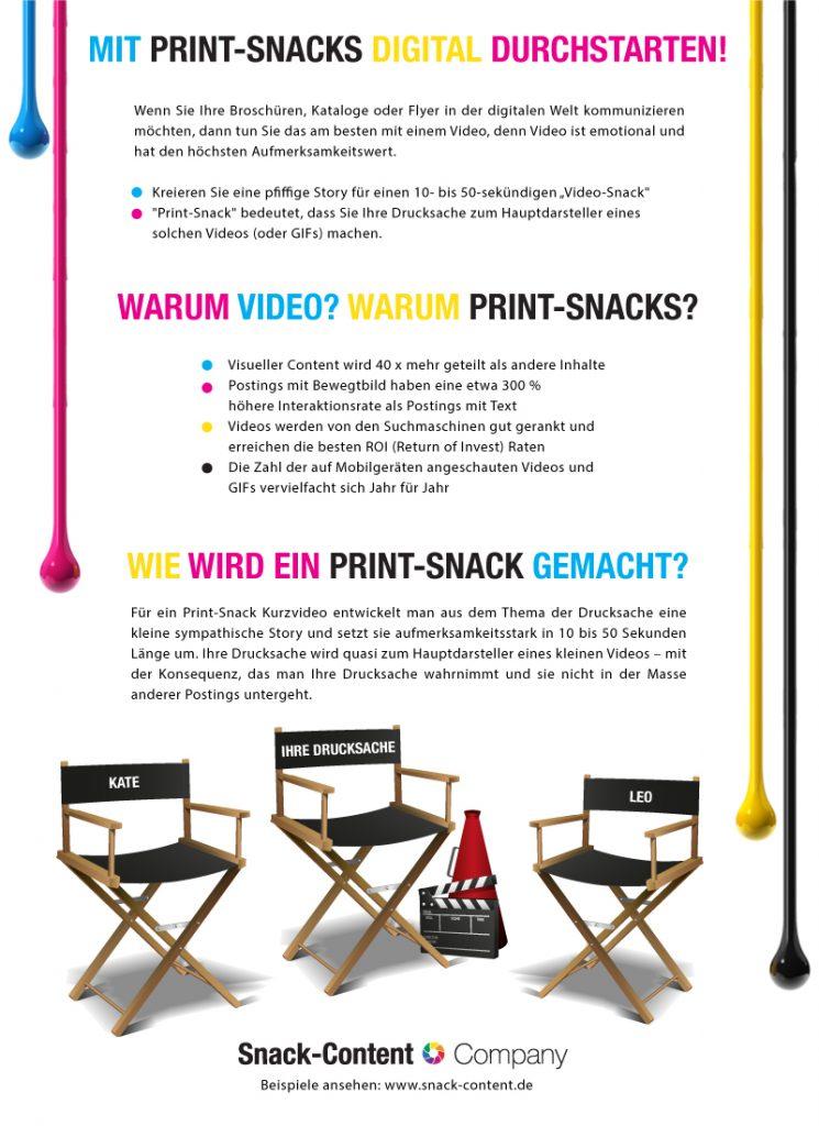 Neue Infografik: Print-Snacks