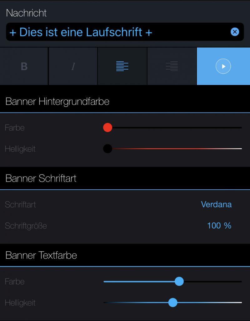 Funktionsumfang von LED Banner Pro 1/2